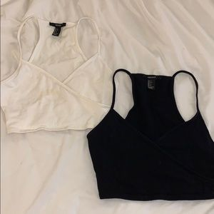 F21 criss cross crop top